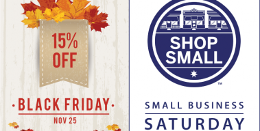 Black Friday / Small Business Saturday – 15% Off Storewide!