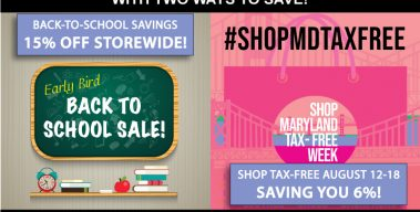Aug. 12-18: Storewide Sale + Tax Free Week = 21% Off!
